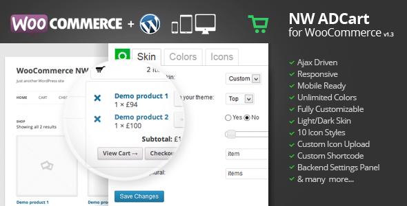Codecanyon WooCommerce Ajax Drop Down Cart v1.3.6