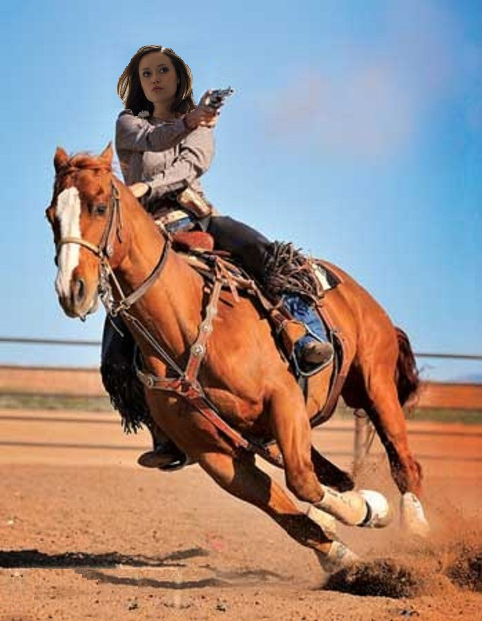 Summer Glau dream role in a western at desert with horse