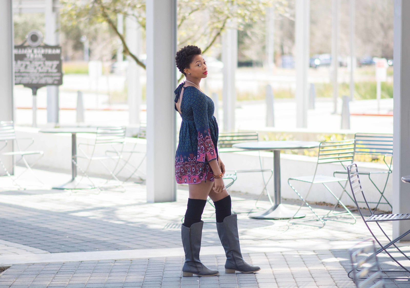 baton rouge fashion blogger open back dress