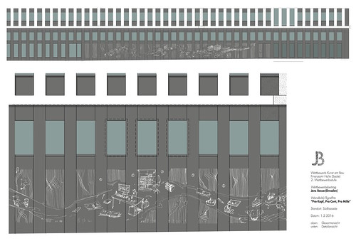 "scheme for proposal ""Competition Kunst am Bau finance office Halle/Saale"""