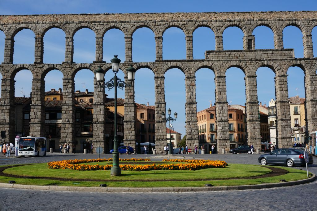 Segovia Spain Aqueduct as you enter the city