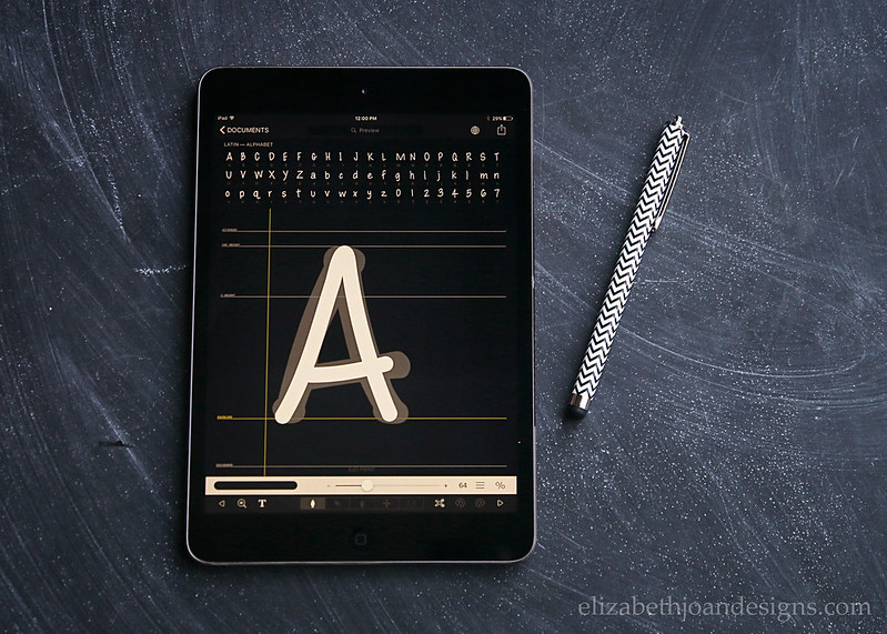 Create Fonts On iPad