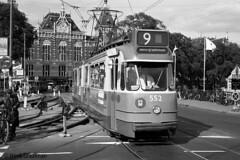Amsterdamse enkel gelede wagens 552-587 in nummer volgorde.