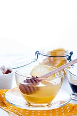 Honey, tea and lemon