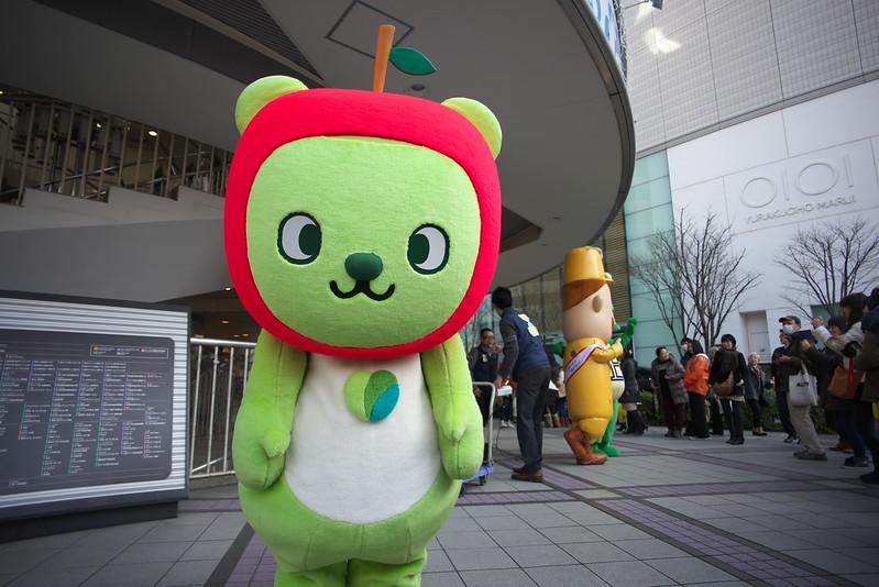 東京路地裏散歩 東京交通会館にゆるキャラ集合 2016年2月11日
