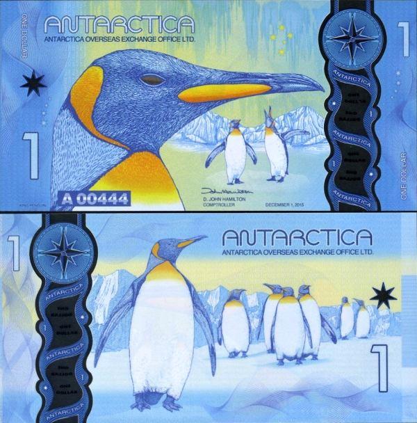 1 Dolár Antarktída 1.12.2015, polymer UNC