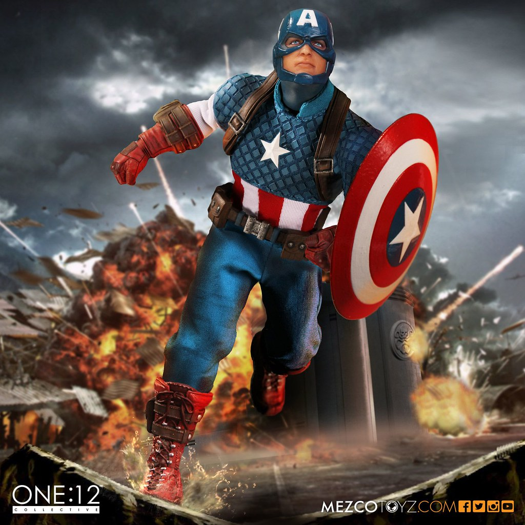 MEZCO – ONE:12 COLLECTIVE 系列【美國隊長】Captain America