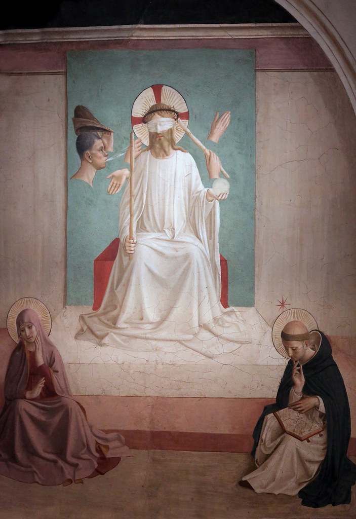 IMG_0384Y Fra Angelico. (Fra Giovanni.  Guido di Pietro) 1395-1455. Florence. Christ aux outrages. Christ Mocked. Florence. Museo di San Marco.