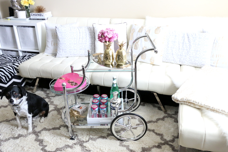 bar cart, home style, living room