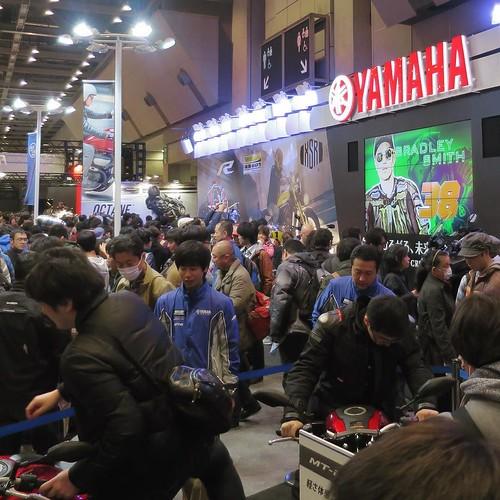 来場者で賑わってます。 #東京モーターサイクルショー