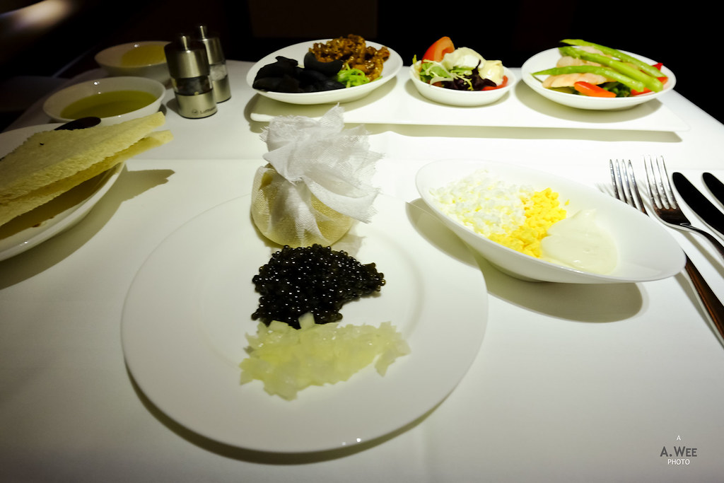 Caviar and appetizer