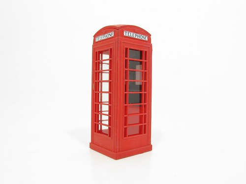 7mm scale K6 telephone box