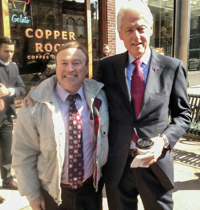 My Brother Steve with former President Bill Clinton
