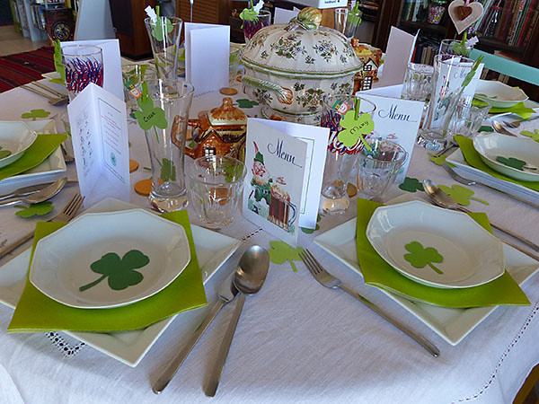 table de la SAint-Patrick