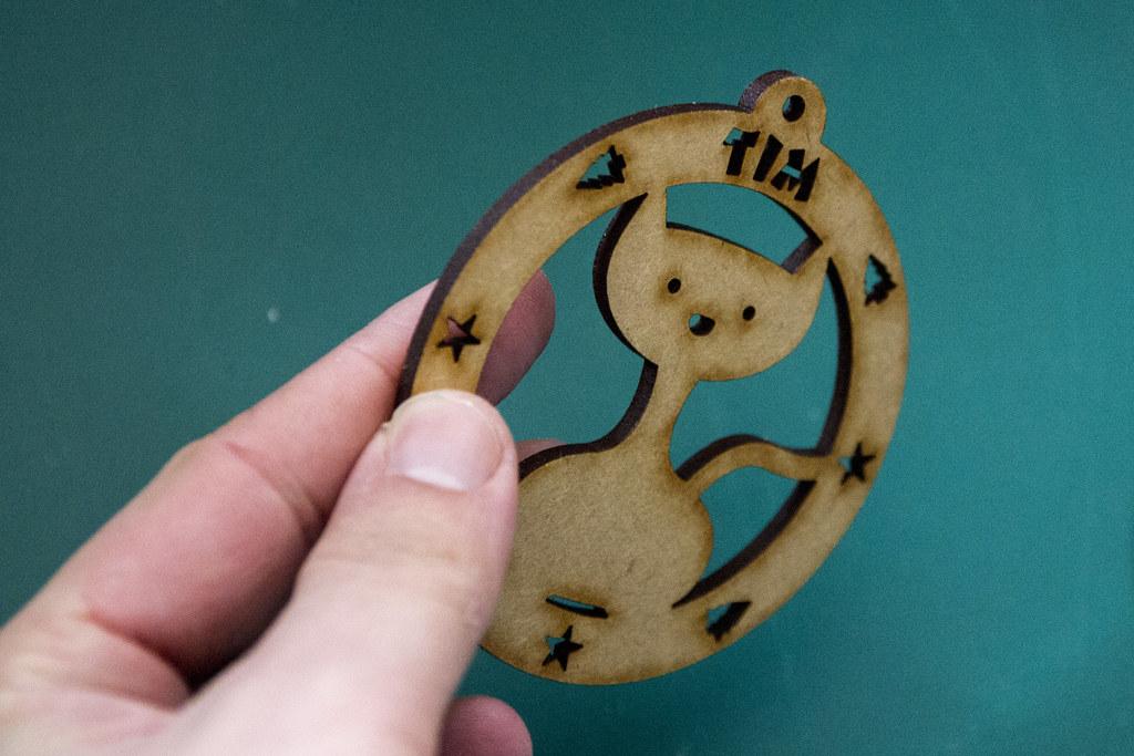 Laser Cut Personalised Cat/Dog Xmas Decorations