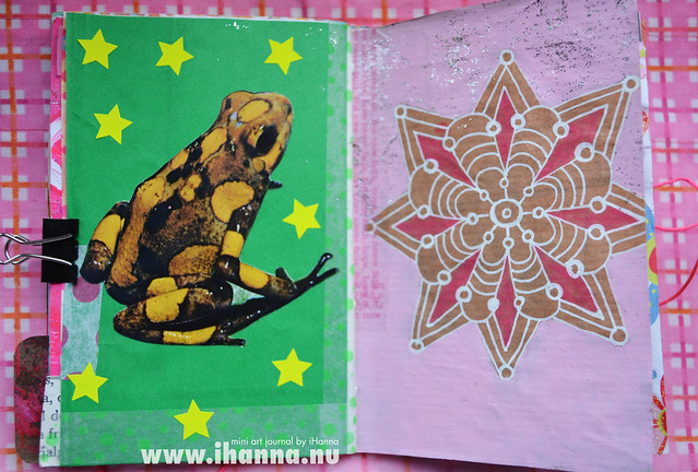 Mini Art Journal Frog & Mandala - created by iHanna