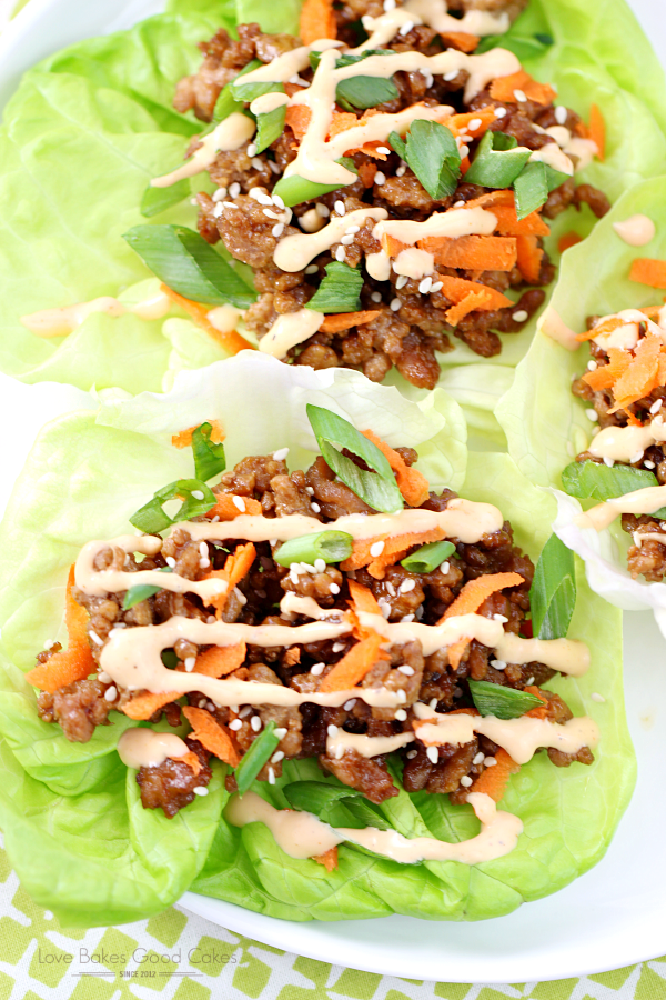 Get dinner on the table in a jiffy with these Asian Pork Lettuce Wraps! It's a simple, satisfying meal the entire family will enjoy! AD