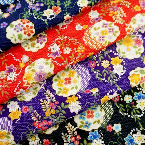 CA450577 日本燙金小花簇 3尺7