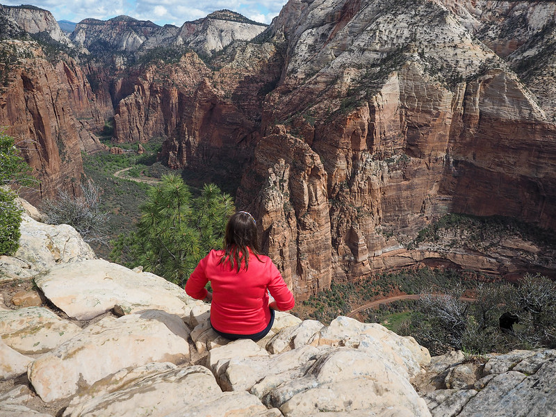 At the top of Angels Landing
