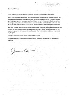 Letter from Jennifer Carlson