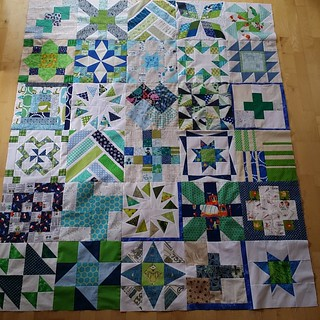 Next step: borders. The blocks are all together now. #ufo #lazybums #sewmystash #beeblock