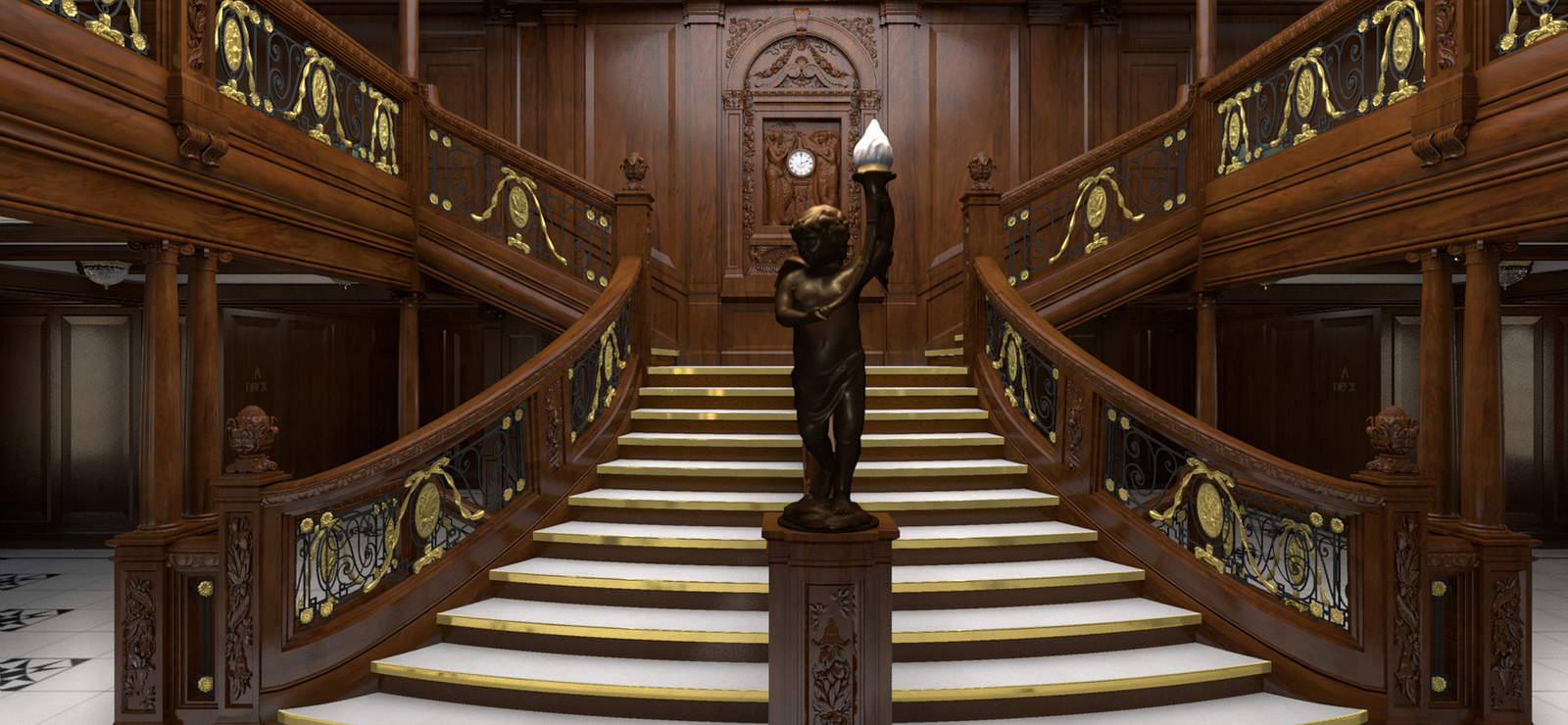 Grand Staircase. Credit Titanic Belfast