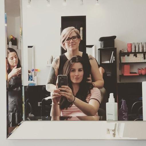 Hair selfie with this lovely lady @missmarleej 😍💇👏