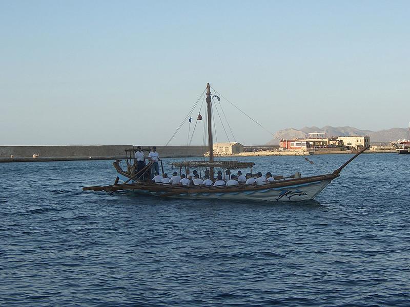 Replica of Minoan ship in Chania, Crete