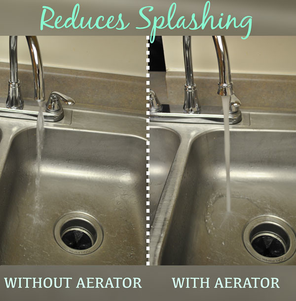 bathroom sink faucet aerator. faucet aerator reduces splashing How To Clean A Faucet Aerator