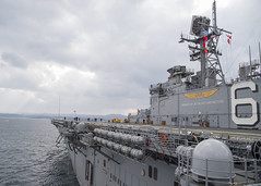 USS Bonhomme Richard (LHD 6) gets underway from Fleet Activities Sasebo, Japan, Jan. 18. (U.S. Navy/MCSN William Sykes)