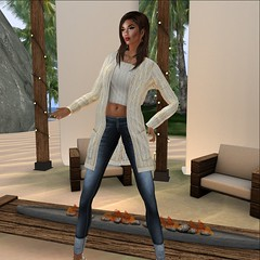 More Than Ever @Designer Showcase January Round- Prosperity Cardigan & Jeans Outfit