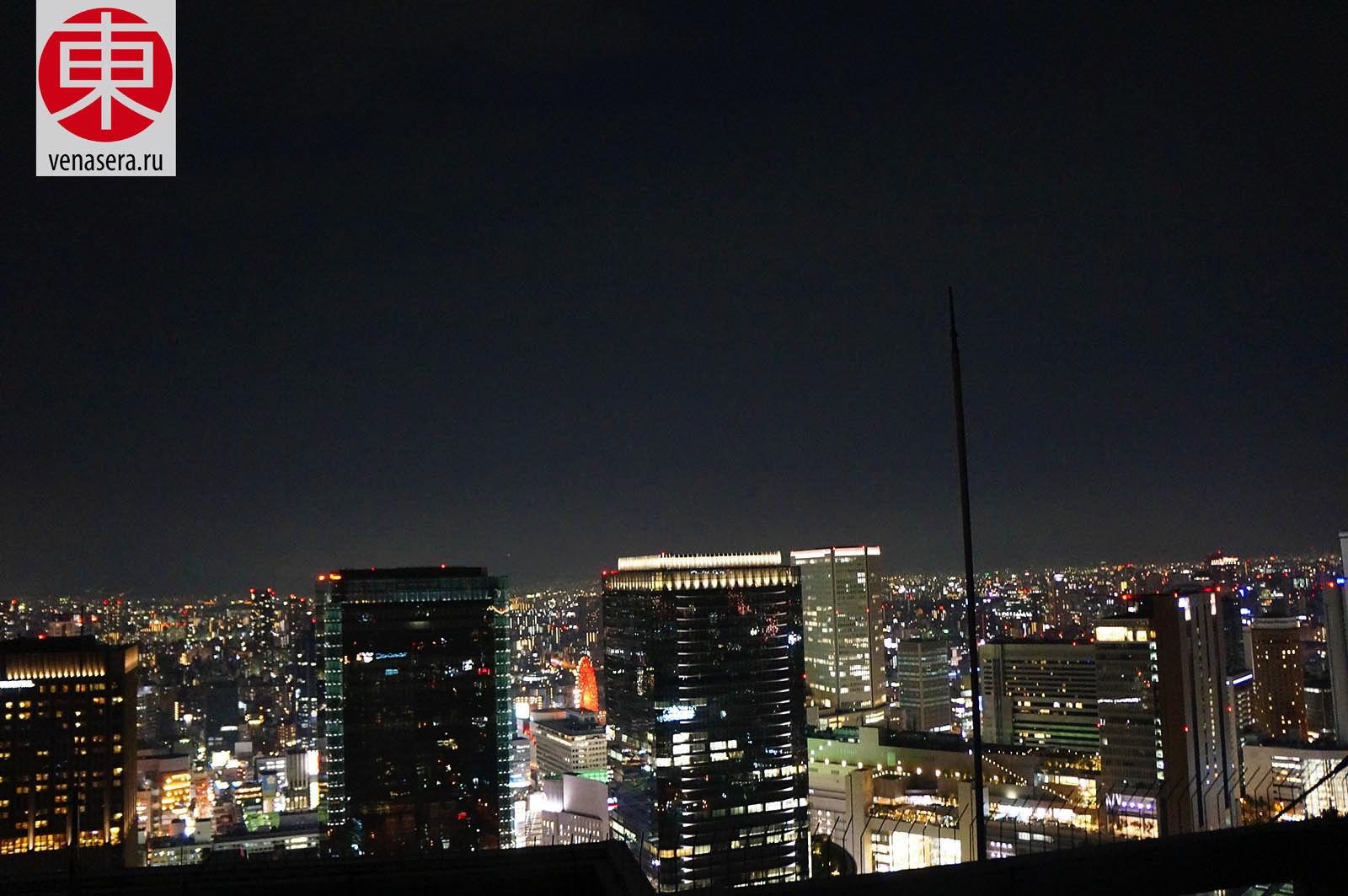 Умэда скай билдинг в Осака, Umeda Sky Building, 梅田スカイビル, Осака, Osaka, 大阪, Япония, Japan, 日本.