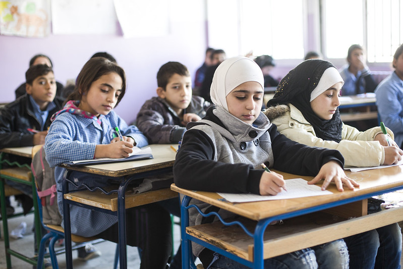 Out of Syria, back into school