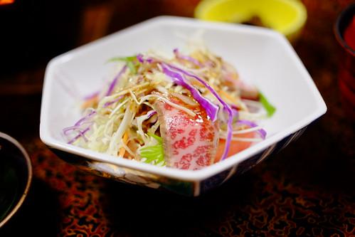 Hida beef salad