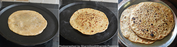 How to make Mushroom paratha - Step3