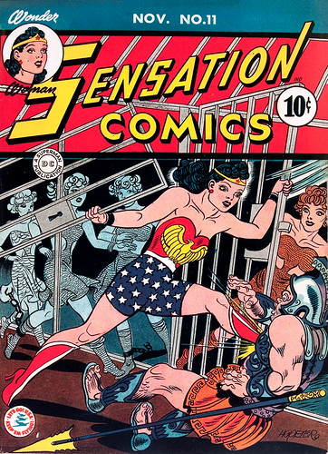 Sensation Comics #11 (1942) cover by H. G. Peter