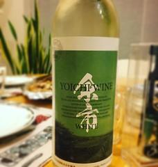 初めて余市ワインを飲む。好みよりも少し甘めだけど飲み口のきれいな上品な味だった。