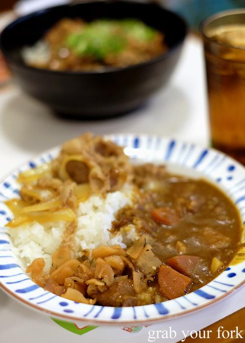 Curry rice with pork from Sukiya, Tokyo, Japan