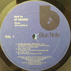 LOU DONALDSON:SWEET LOU(LABEL SIDE-A)