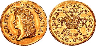 James II Gunmoney shilling