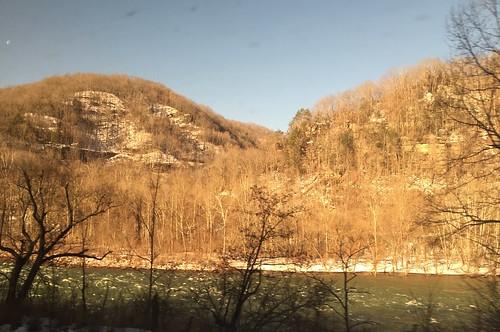 winter rivers newriver newrivergorgewv fayettecountywv wesrvirginia amtrakviews