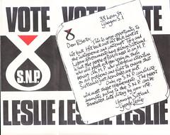 SNP leaflet, George Leslie
