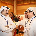 Delegates chat during coffee break