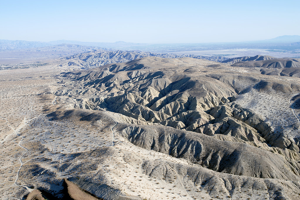 Aerial view of the Mission Creek Fault, Riverside County, California