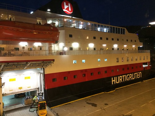 29 Feb - Boarding Hurtigruten Cruise on Kong Harald.