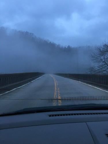 Mist on the drive home (Yamacraw Bridge)