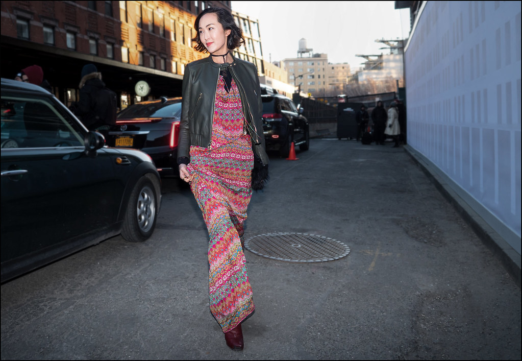 Arriving at DVF  NYFW 2- 2016