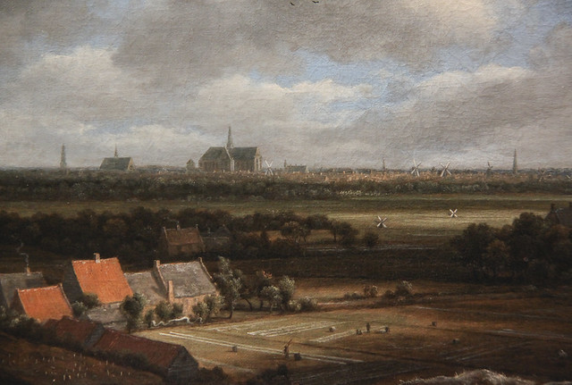 View of Haarlem from the Northwest, with the Bleaching Fields in the Foreground, Jacob Isaacksa van Ruisdeal, c.1650-82