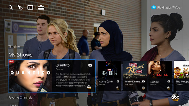 PlayStation Vue for PS4 and PS3 - My Shows ABC