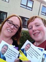 Councillor Ellen Forson campaigning for Keith Brown, Scottish Elections 2016